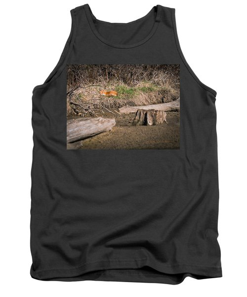 Tank Top featuring the photograph Fox Asleep by Edward Peterson