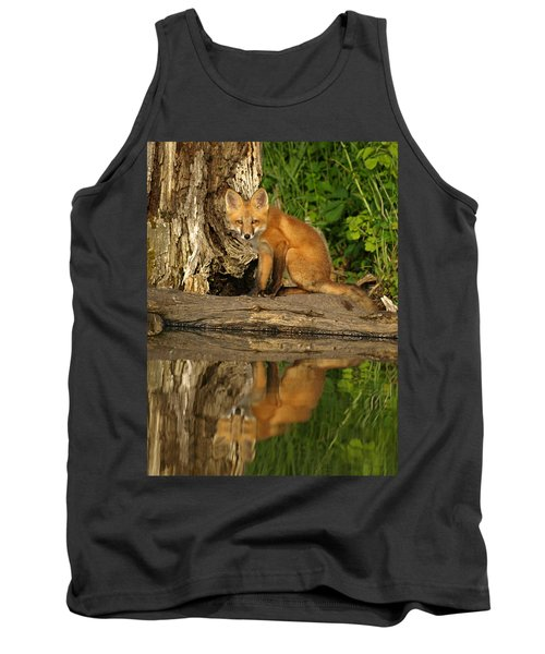 Fox Reflection Tank Top by James Peterson