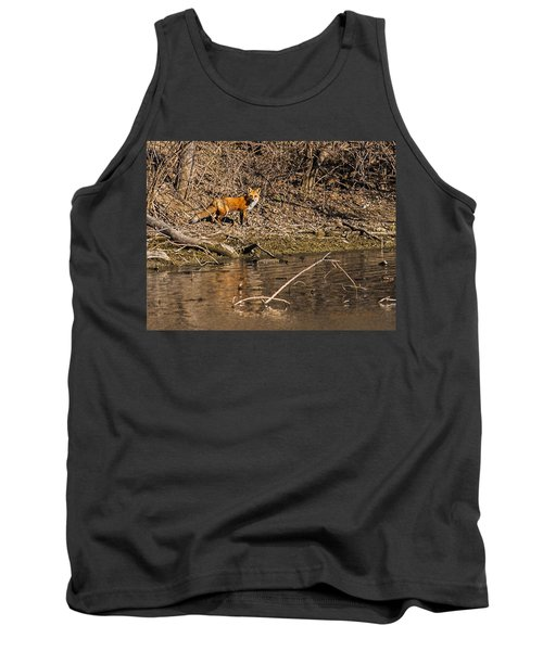 Tank Top featuring the photograph Fox Walk by Edward Peterson
