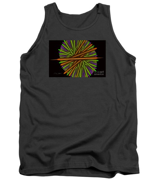 Fractal Feathers Tank Top by Melissa Messick