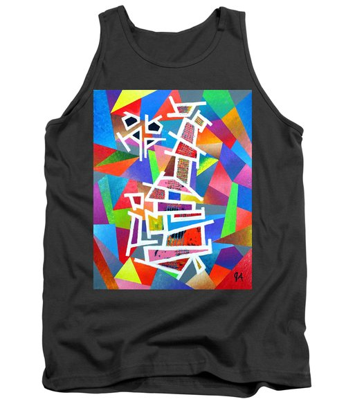 Fractured Instrument Of Love Tank Top by Jeremy Aiyadurai