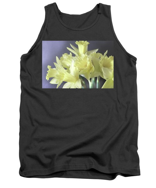 Fragile Daffodils Tank Top by Jacqi Elmslie