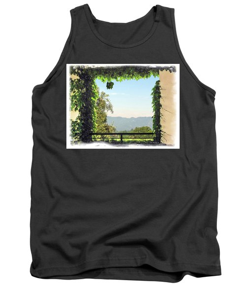Tank Top featuring the photograph Framing Napa Valley by Joan  Minchak