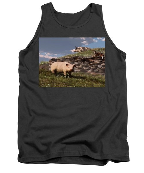 Free Range Pigs Tank Top