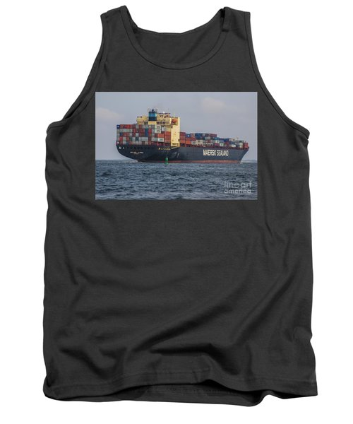 Freighter Headed Out To Sea Tank Top