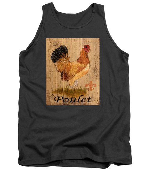 French Country Shabby Cottage Poulet Hen Tank Top