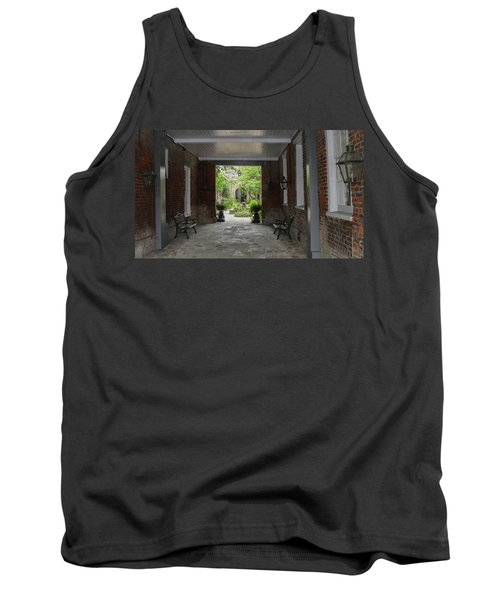 French Quarter Courtyard Tank Top by Mark Barclay