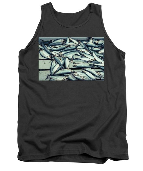 Tank Top featuring the photograph Fresh Caught Herring Fish by Edward Fielding