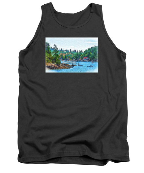 Friday Harbor Sketched Tank Top by Kirt Tisdale