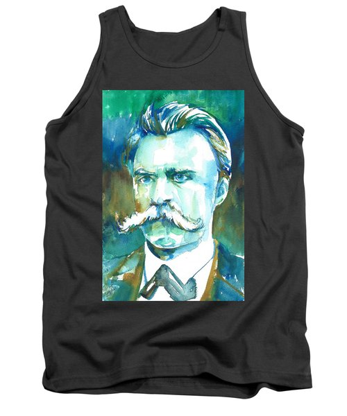 Friedrich Nietzsche Watercolor Portrait.1 Tank Top
