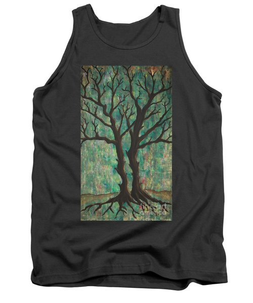 Tank Top featuring the painting Friends by Jacqueline Athmann