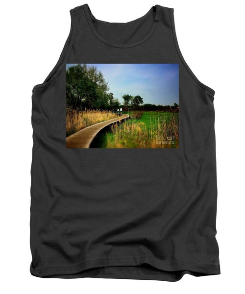 Friends Walking The Wetlands Trail Tank Top