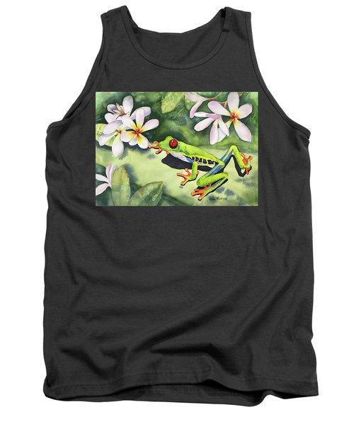 Frog And Plumerias Tank Top