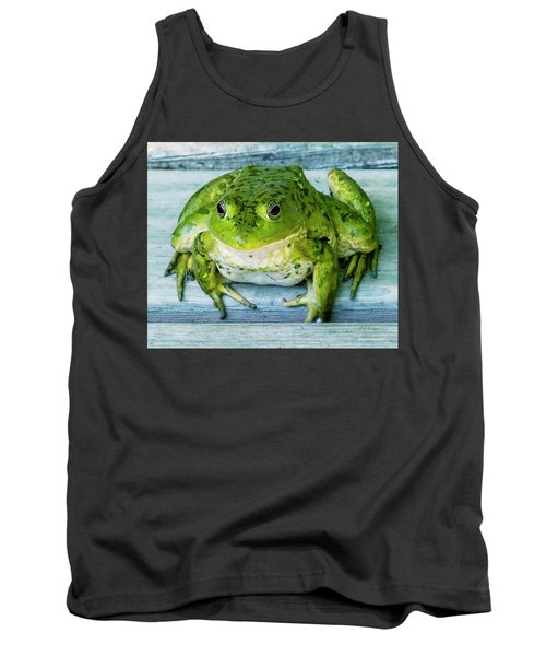Frog Portrait Tank Top by Edward Peterson