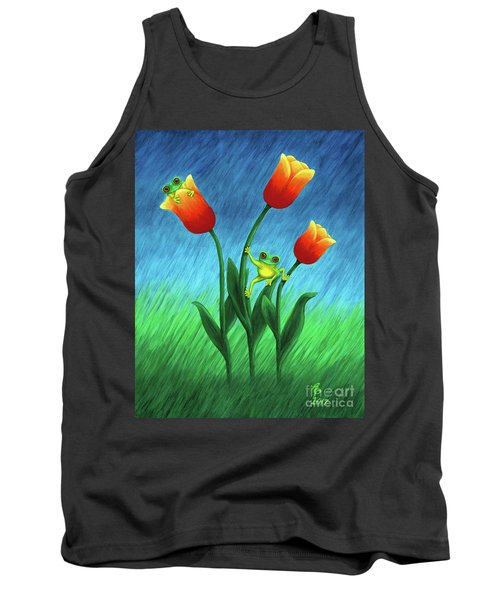 Froggy Tulips Tank Top