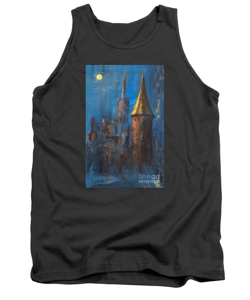 Tank Top featuring the painting From Medieval Times by Arturas Slapsys