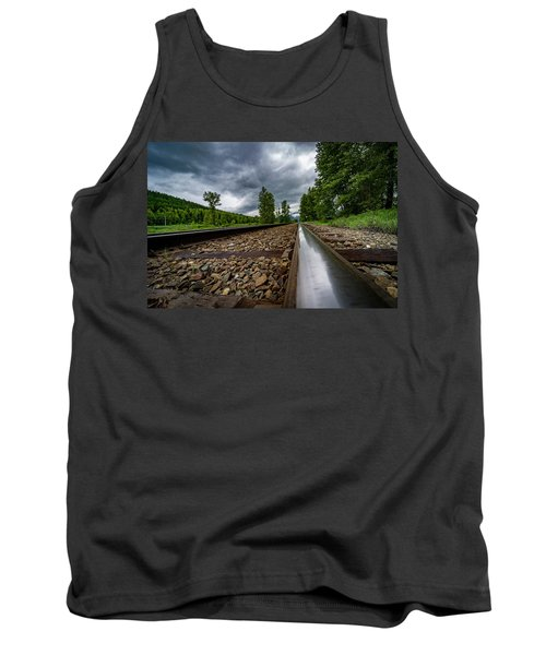 Tank Top featuring the photograph From The Track by Darcy Michaelchuk