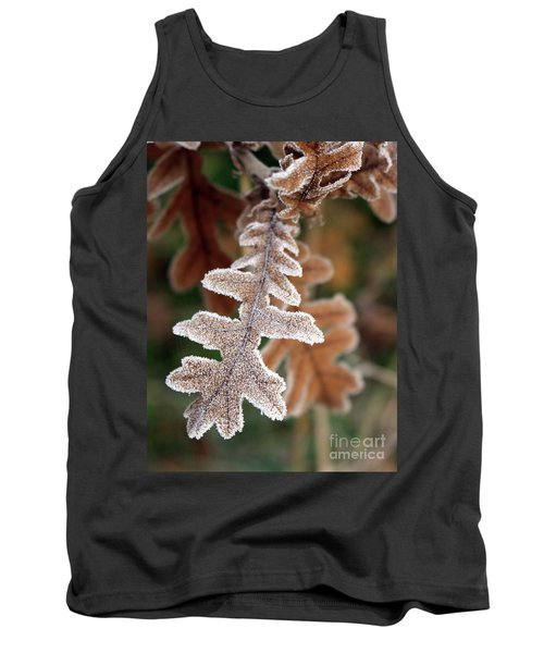 Frost Covered Oak Leaf Tank Top