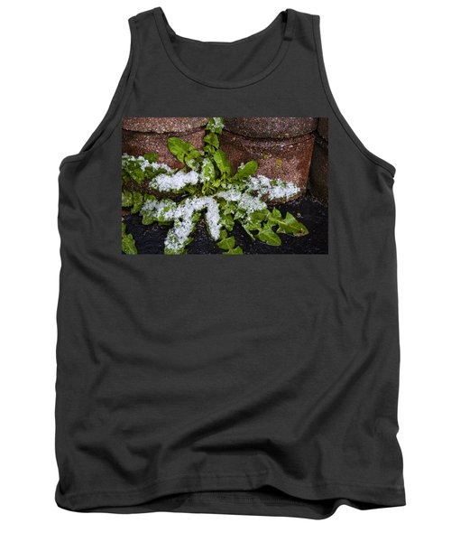 Frosted Dandelion Leaves Tank Top