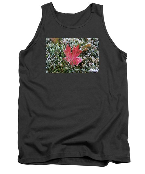 Frosted Maple Leaf  Tank Top by Yumi Johnson