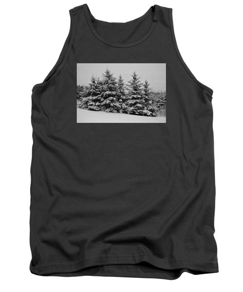 Tank Top featuring the photograph Frosted Trees by Kathleen Sartoris