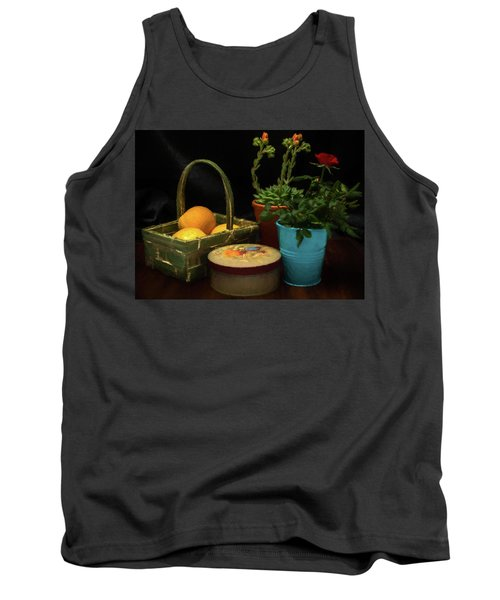 Fruit And Flowers Still Life Digital Painting Tank Top