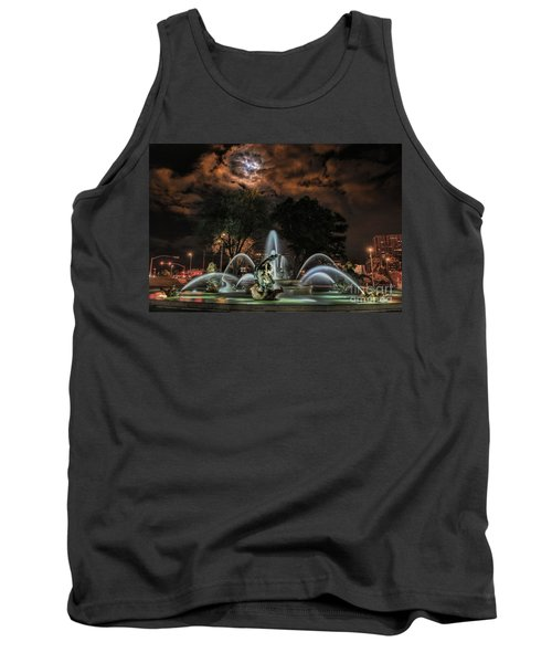 Full Moon At The Fountain Tank Top