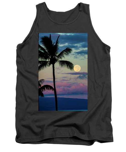 Full Moon And Palm Trees Tank Top
