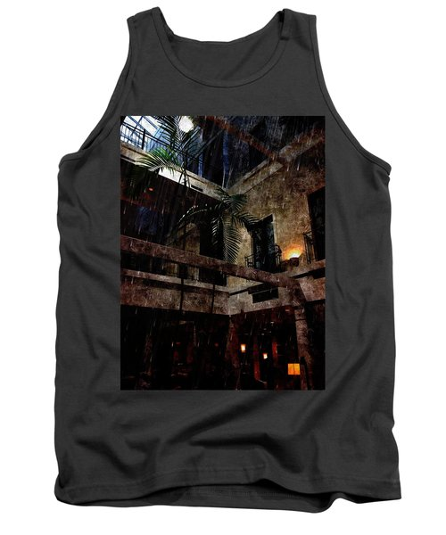 Full Moon At Tremont Toujouse Bar Tank Top