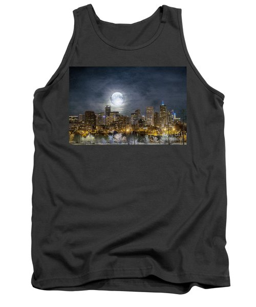 Full Moon Over Denver Tank Top