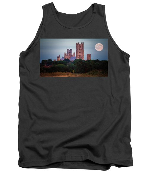 Full Moon Over Ely Cathedral Tank Top