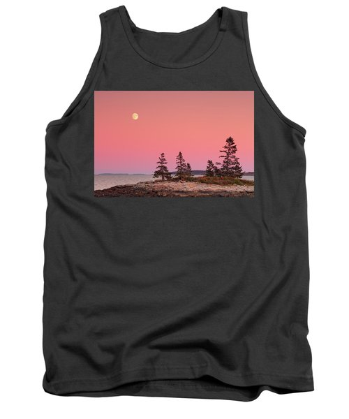 Tank Top featuring the photograph Full Moon Over Maine  by Emmanuel Panagiotakis