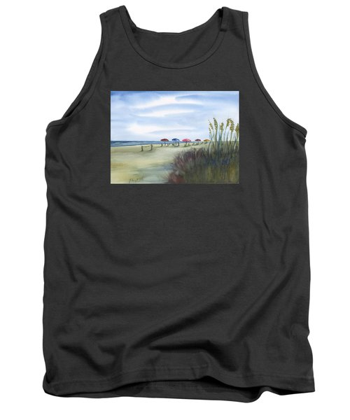 Fun At Folly Field Beach Tank Top by Frank Bright