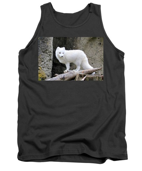 Furry Arctic Fox  Tank Top