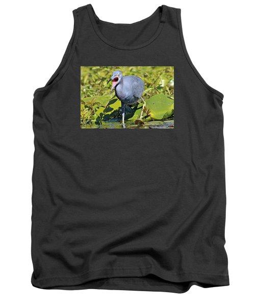 Fussy Little Blue Heron Tank Top