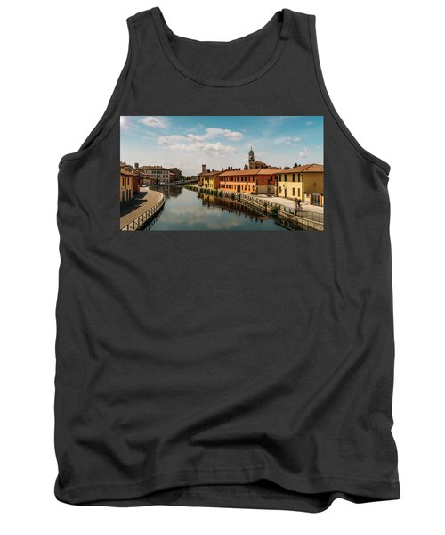 Gaggiano On The Naviglio Grande Canal, Italy Tank Top