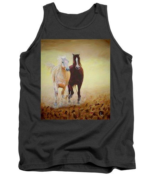 Galloping Horses Tank Top