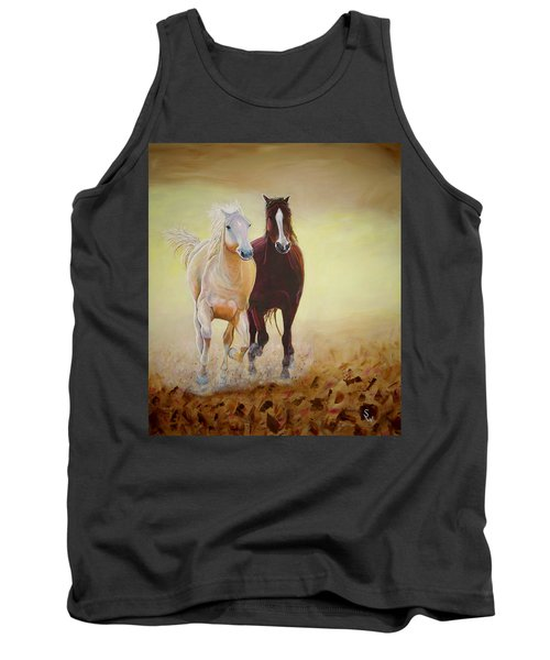 Galloping Horses Tank Top