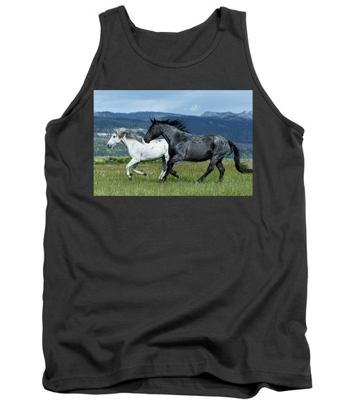 Galloping Through The Scenery In Wyoming Tank Top
