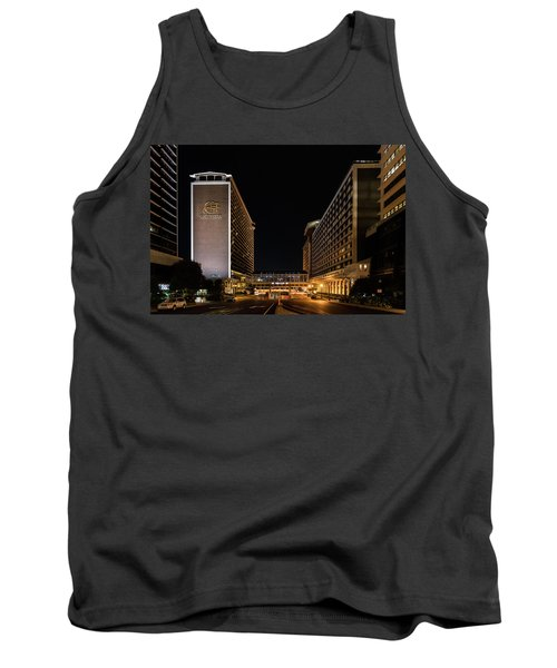 Tank Top featuring the photograph Galt House Hotel And Suites At Night by Randy Scherkenbach