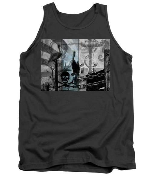 Galveston - Home To Pirates And Pelicans Tank Top by Karl Reid