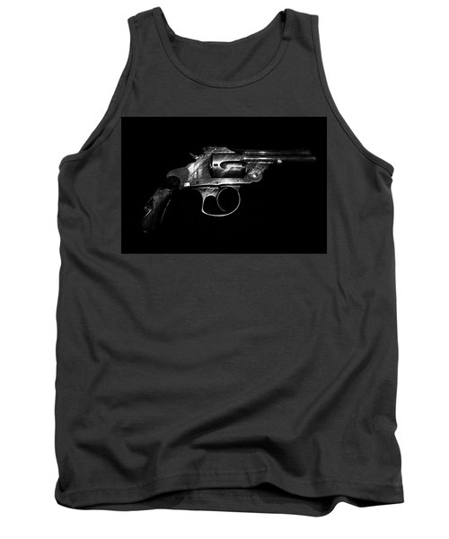 Tank Top featuring the mixed media Gangster Gun by Daniel Hagerman