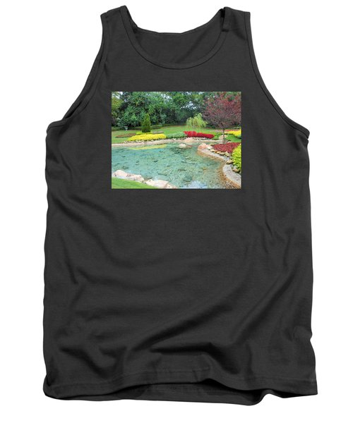 Tank Top featuring the photograph Garden At Epcot by Kay Gilley