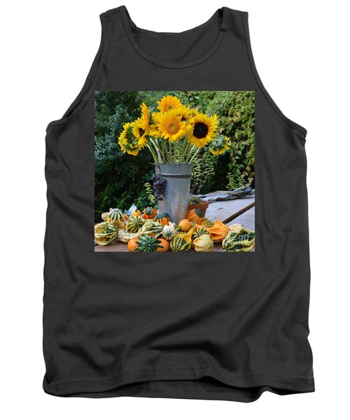 Garden Bounty In Yellow And Green Tank Top