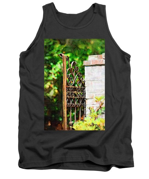 Tank Top featuring the photograph Garden Gate by Donna Bentley