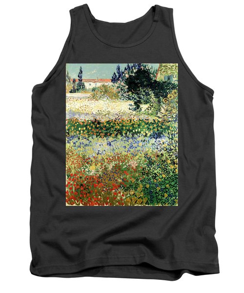 Tank Top featuring the painting Garden In Bloom by Van Gogh