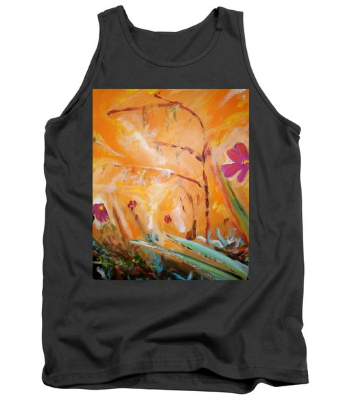 Tank Top featuring the painting Garden Moment by Winsome Gunning