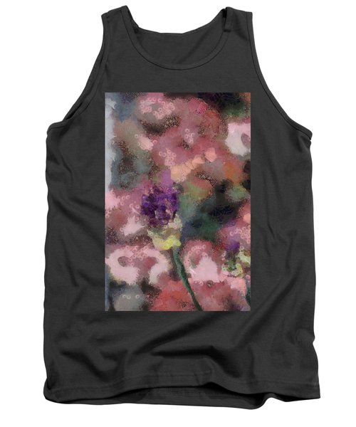Tank Top featuring the mixed media Garden Of Love by Trish Tritz