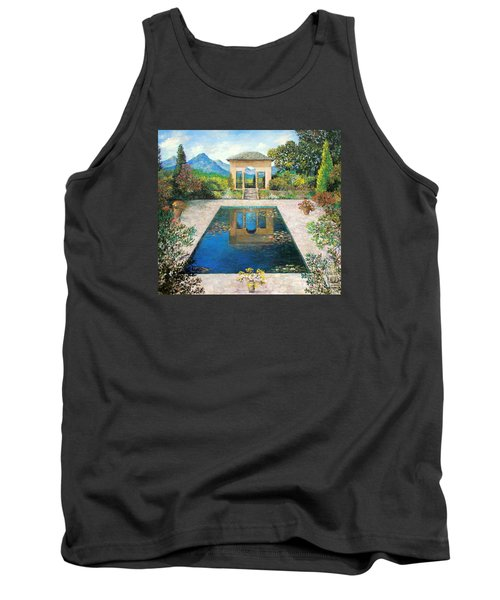 Garden Reflection Pool Tank Top by Lou Ann Bagnall