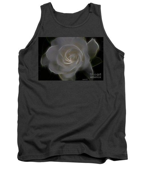 Gardenia Blossom Tank Top by Deborah Benoit